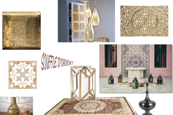 Planche de style Orient par Samira Bouhenna, Décoratrice UFDI sur Gennevilliers, Saint Denis, et Paris 92 75 93