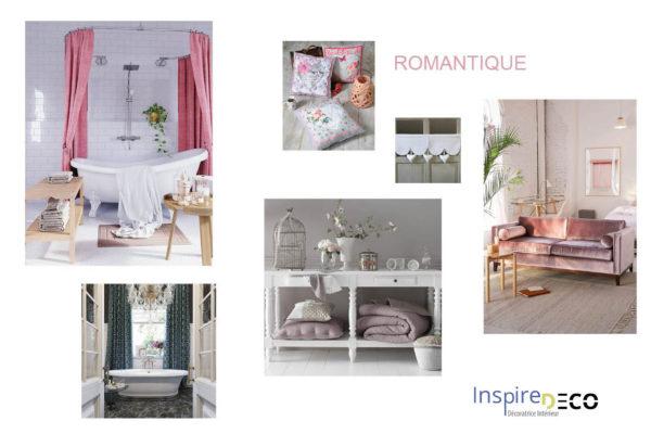 Planche de style Romantique par Samira Bouhenna, Décoratrice UFDI sur Gennevilliers, Saint Denis, et Paris 92 75 93