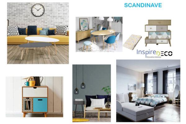 Planche de style Scandinave par Samira Bouhenna, Décoratrice UFDI sur Gennevilliers, Saint Denis, et Paris 92 75 93