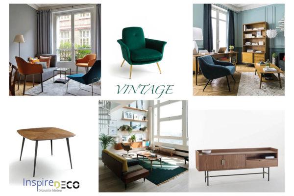 Planche de style Vintage par Samira Bouhenna, Décoratrice UFDI sur Gennevilliers, Saint Denis, et Paris 92 75 93