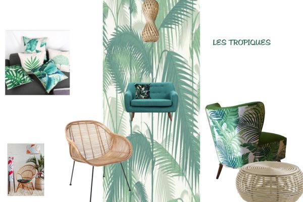 Planche de style Jungle par Samira Bouhenna, Décoratrice UFDI sur Gennevilliers, Saint Denis, et Paris 92 75 93